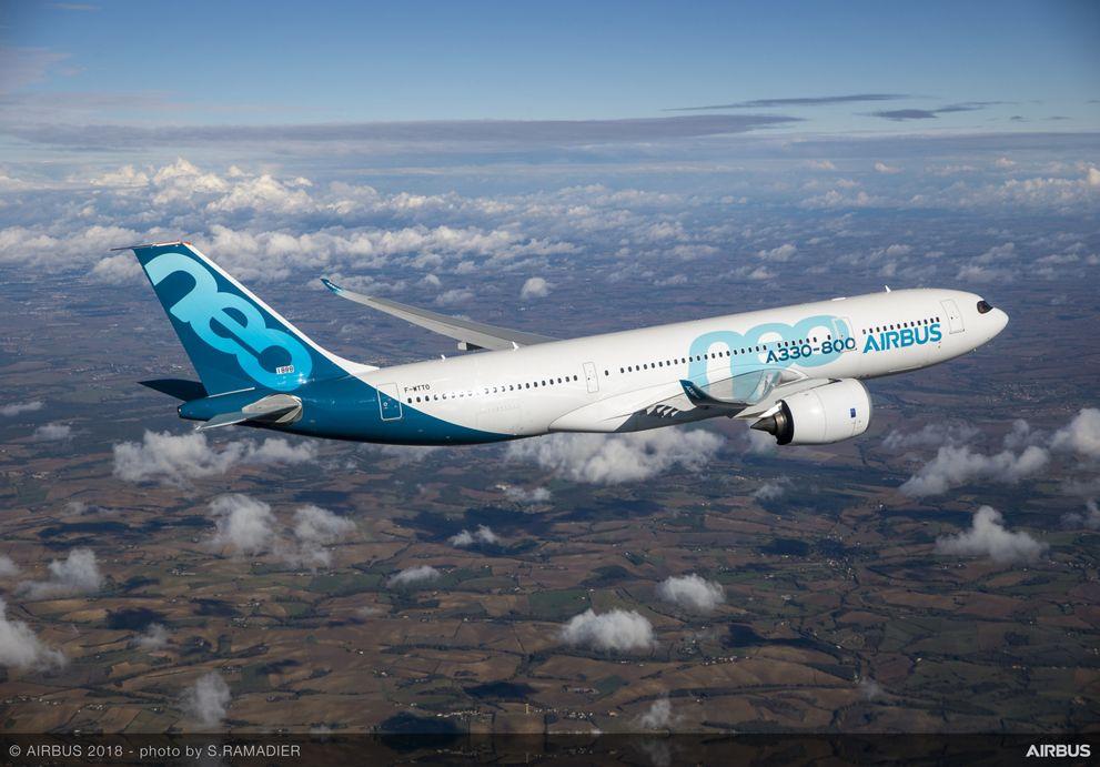 A330-800 First Flight - in flight