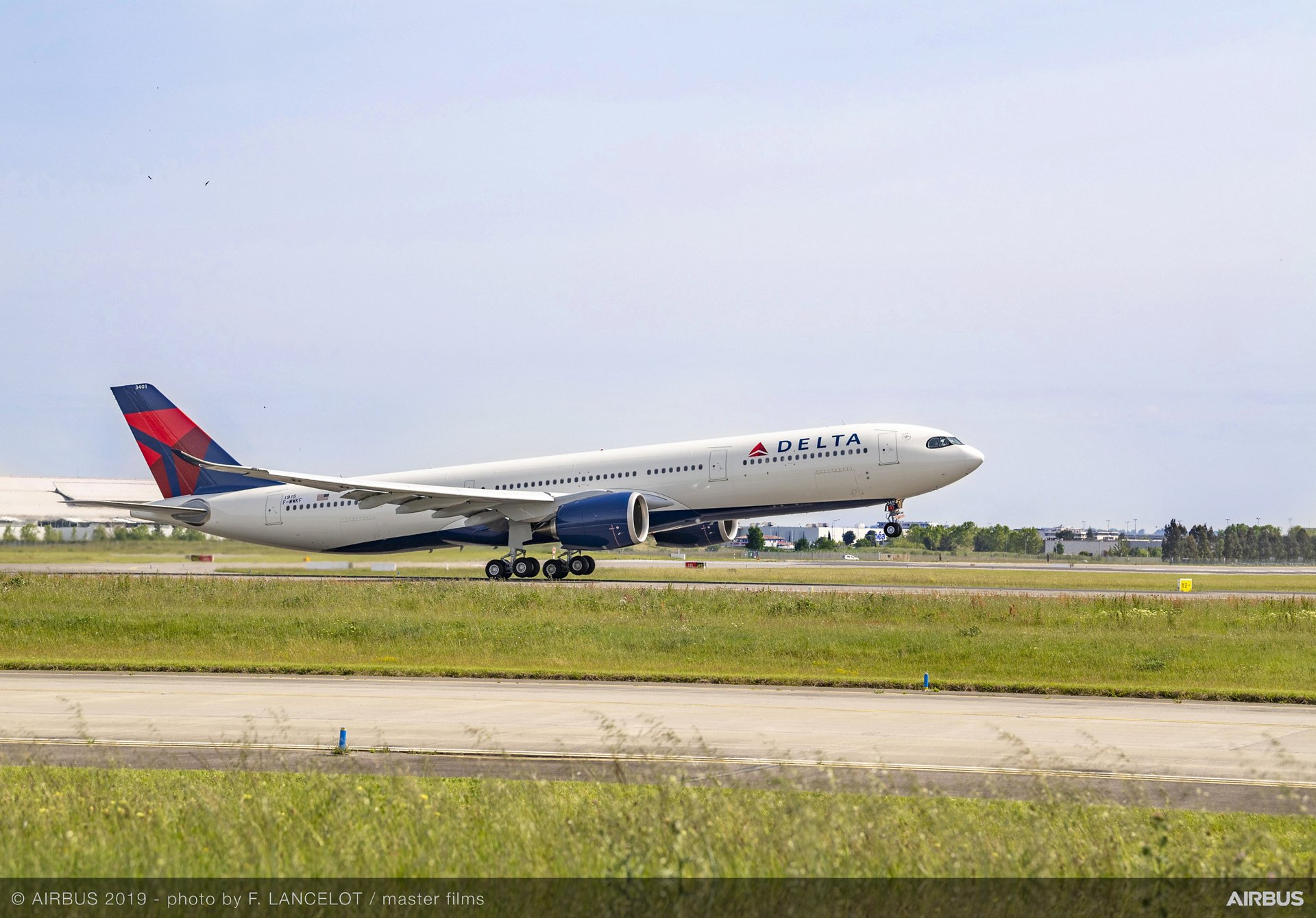 Delta Air Lines' A330-900 take-off