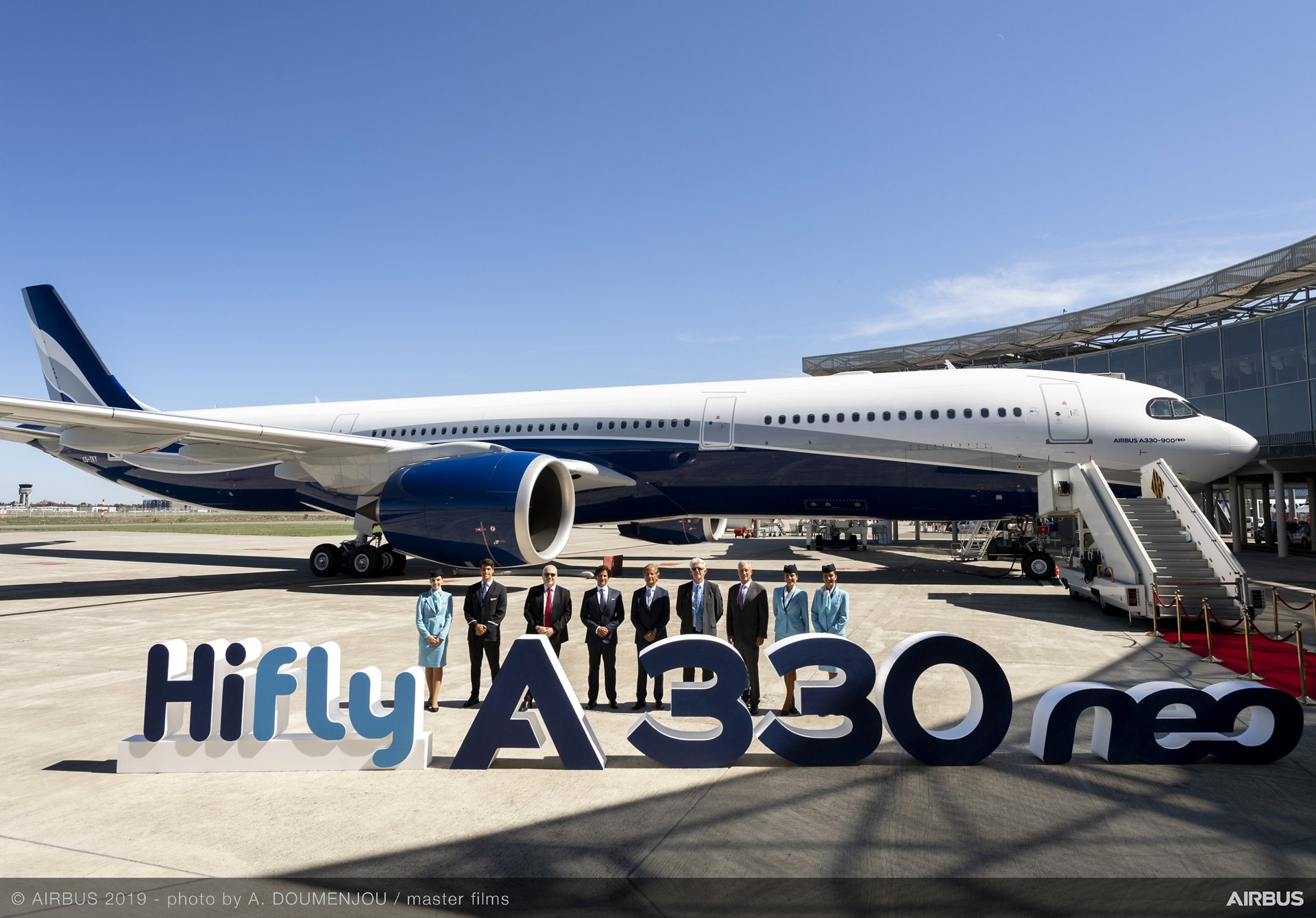 Airbus delivers first A330neo in Hi Fly livery