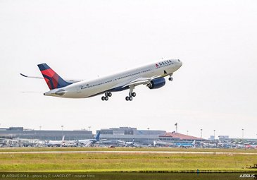 Delta Air Lines' A330-900 first flight