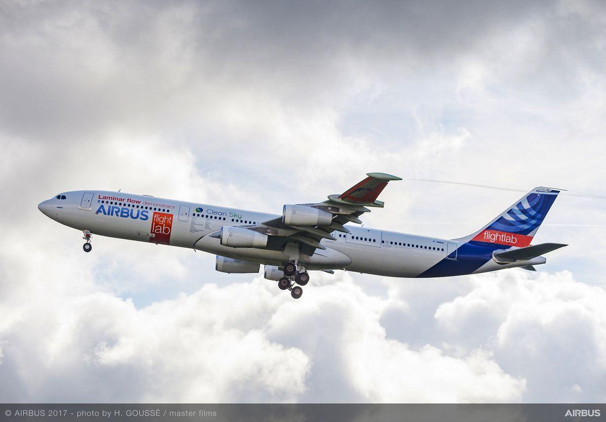 A340 Laminar Flow BLADE Demonstrator First Flight