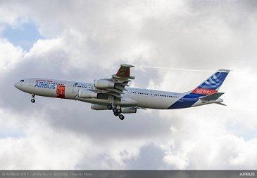 A340 Laminar流动刀片示范器第一飞行