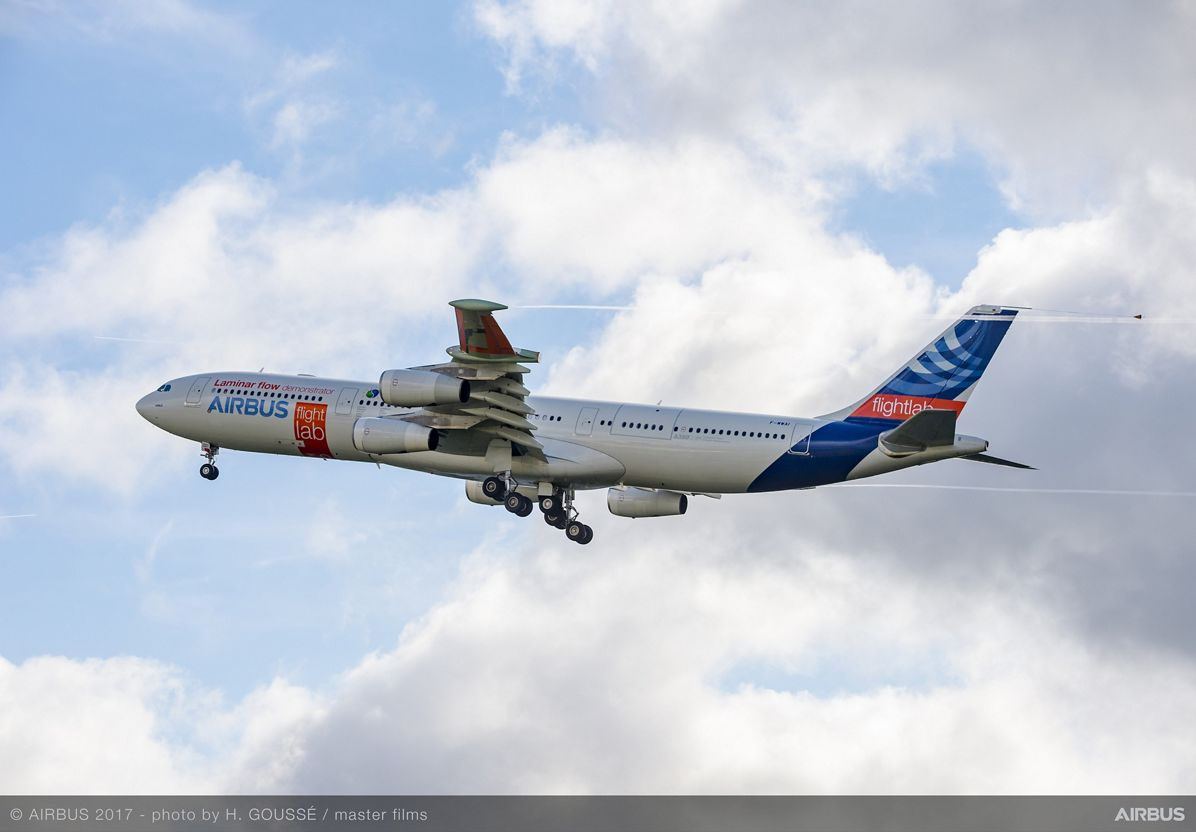 A340 Laminar Flow BLADE Demonstrator First Flight