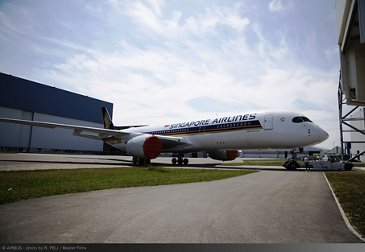 Singapore Airlines Ultra Long Range A350 XWB paint shop rollout 2