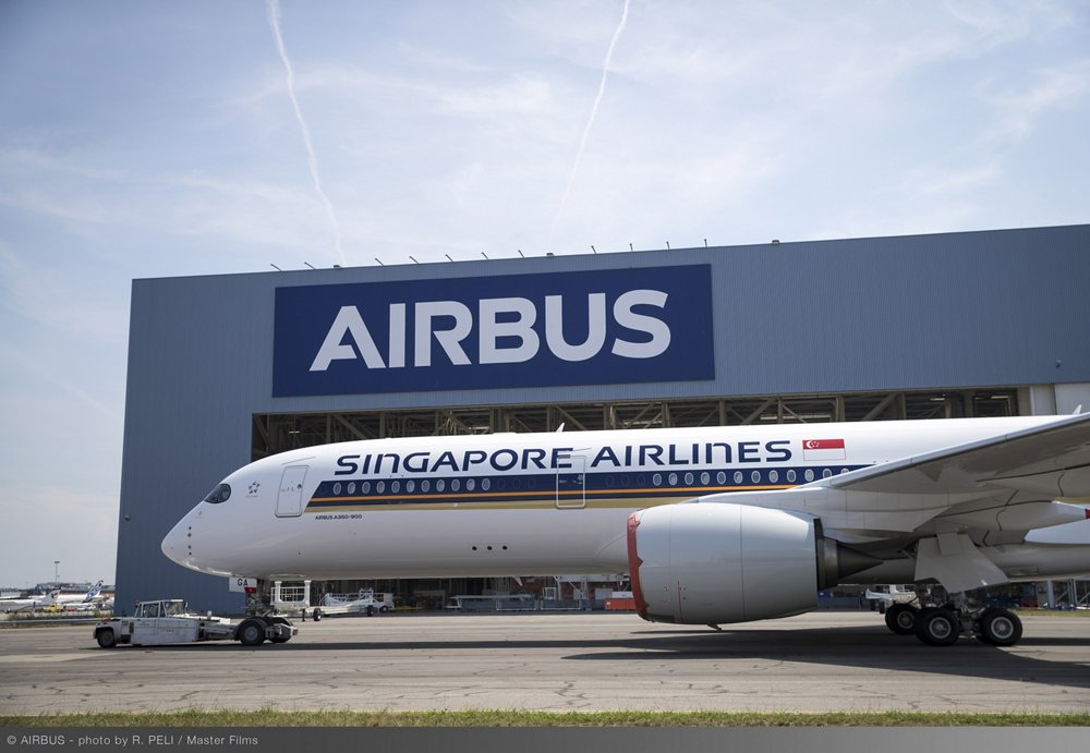 Singapore Airlines Ultra Long Range A350 XWB paint shop rollout 1