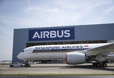 Singapore Airlines Ultra Long Range A350 XWB paint shop rollout 1
