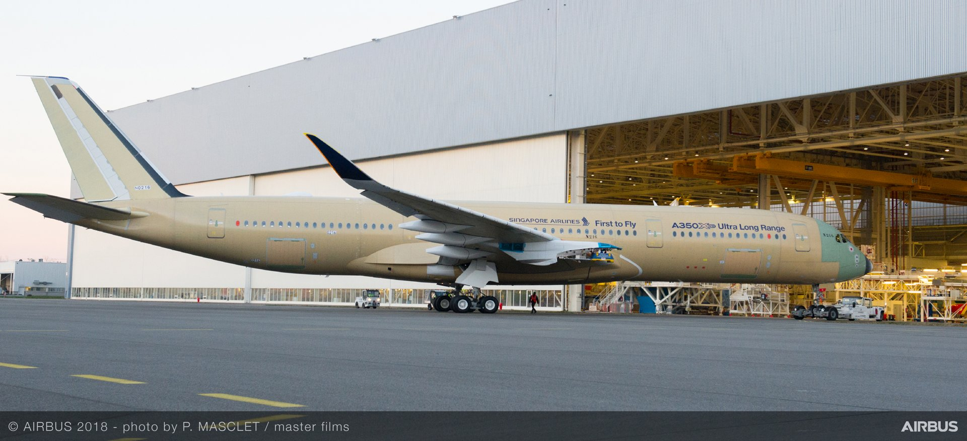 The first Ultra Long Range version of the A350 XWB has rolled out of the Airbus final assembly line in Toulouse. The latest variant of the best-selling A350 XWB Family will be able to fly further than any other commercial airliner and will enter service with launch operator Singapore Airlines later this year.