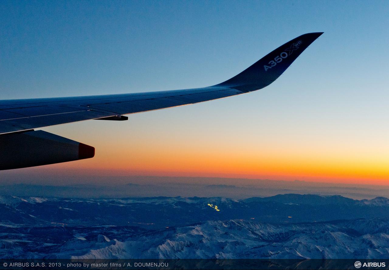 A350 In Flight