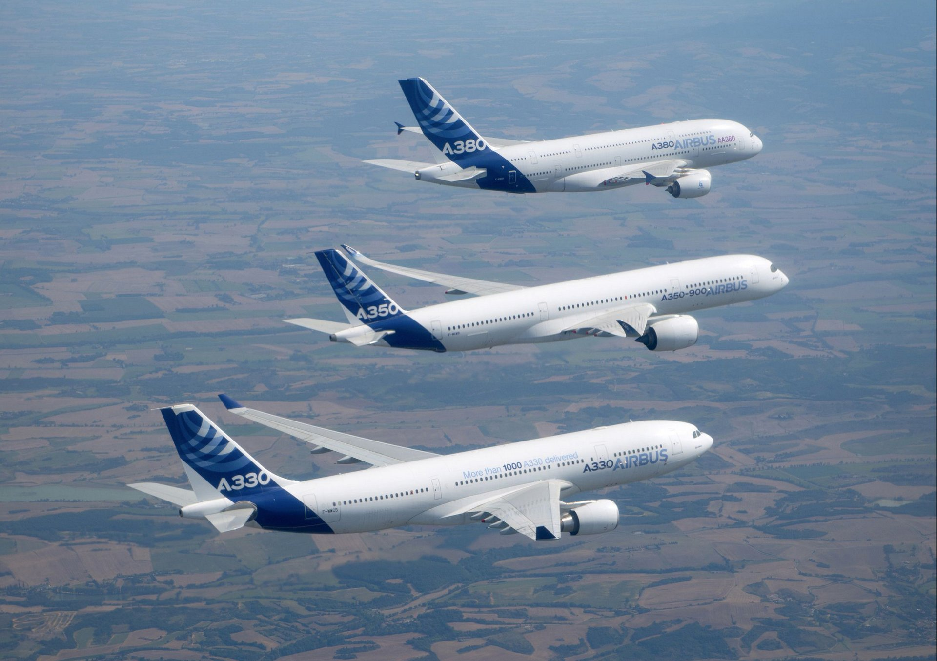 Airbus widebody family flight