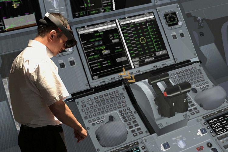 HoloLens cockpit view