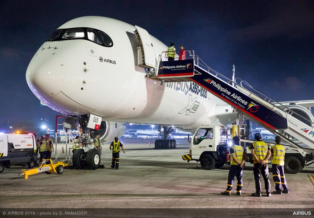 Airbus A350-1000 demo tour – Manila 1