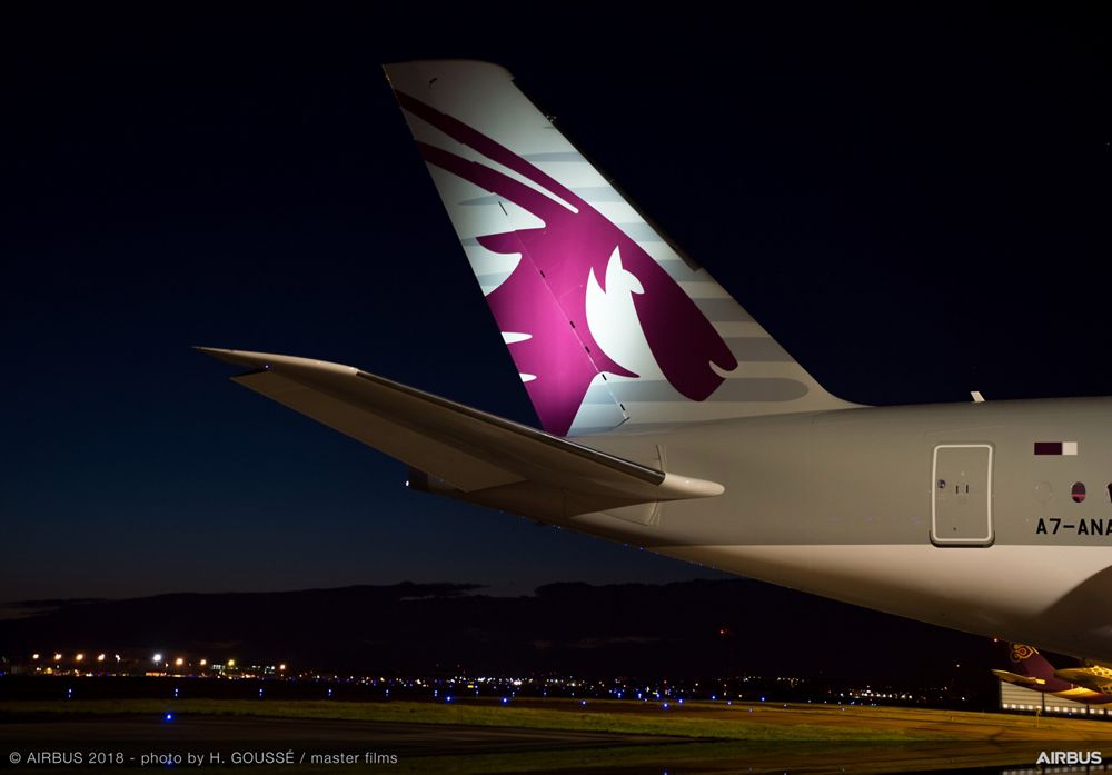 A350 1000 Qatar Airways First Delivery Ferry Flight 001