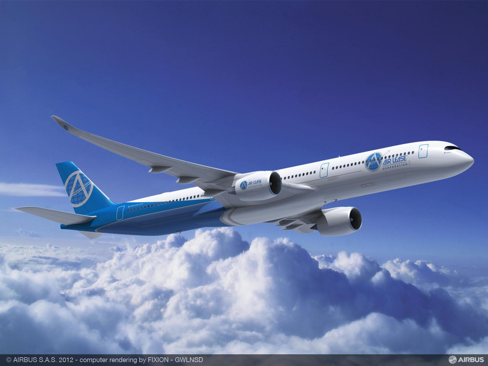 Air Lease Corporation of Los Angeles inked a new contract with Airbus for 25 A350 XWB Family aircraft, including five A350-1000s (shown here) and 20 A350-900s