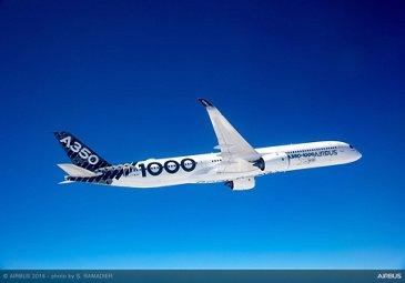 A350-1000 in flight 1