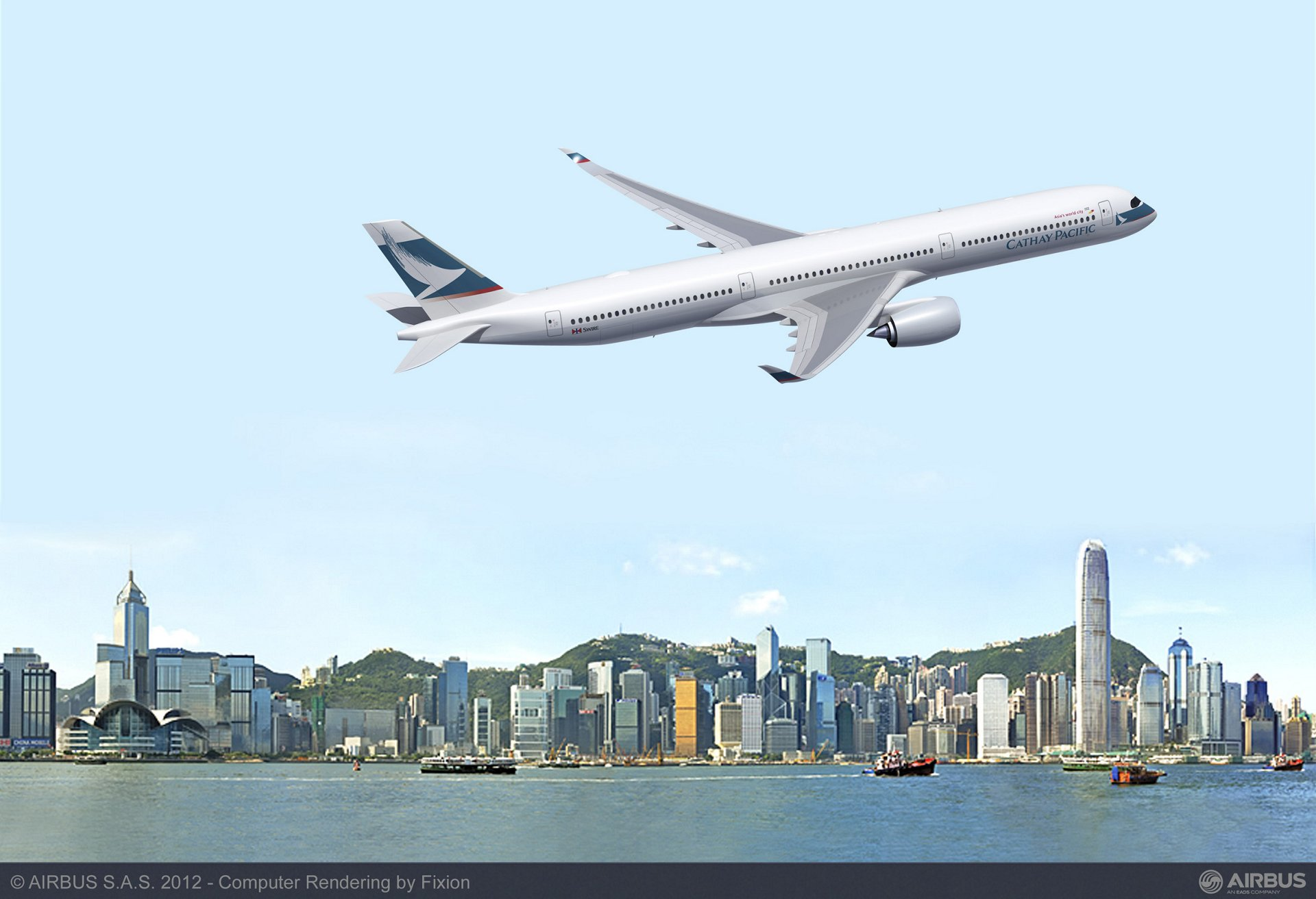 Cathay Pacific Airways today announced that it intends to add the A350-1000 to its future A350 XWB fleet, with an agreement to place a new order for 10 aircraft. In addition, the Hong Kong-based airline will convert 16 of its existing orders for the A350-900 to the larger A350-1000.