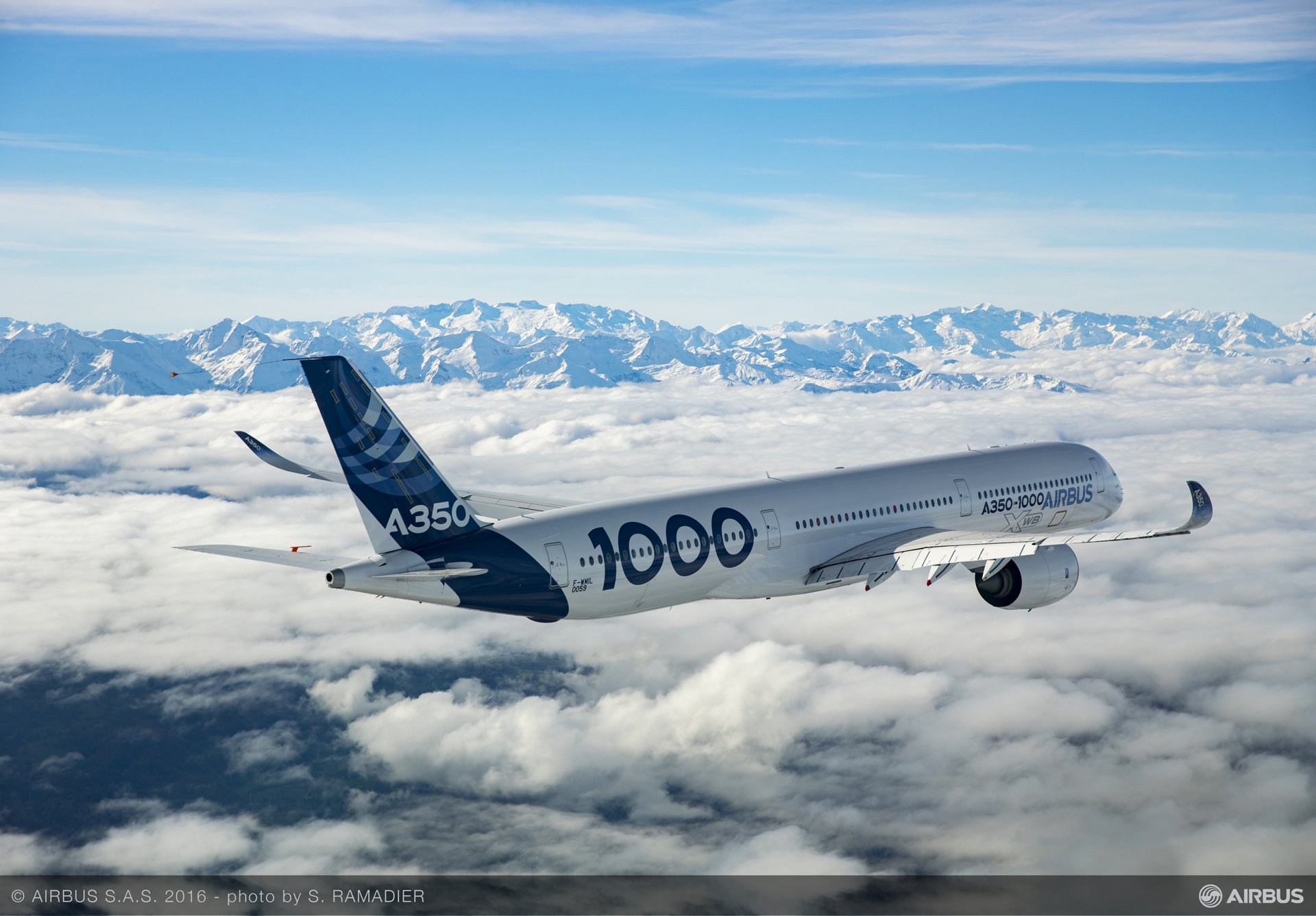 The A350-1000 is powered by two Trent XWB-97 turbofan jet engines – the most powerful version of Rolls-Royce's Trent XWB powerplants developed for the A350 XWB family