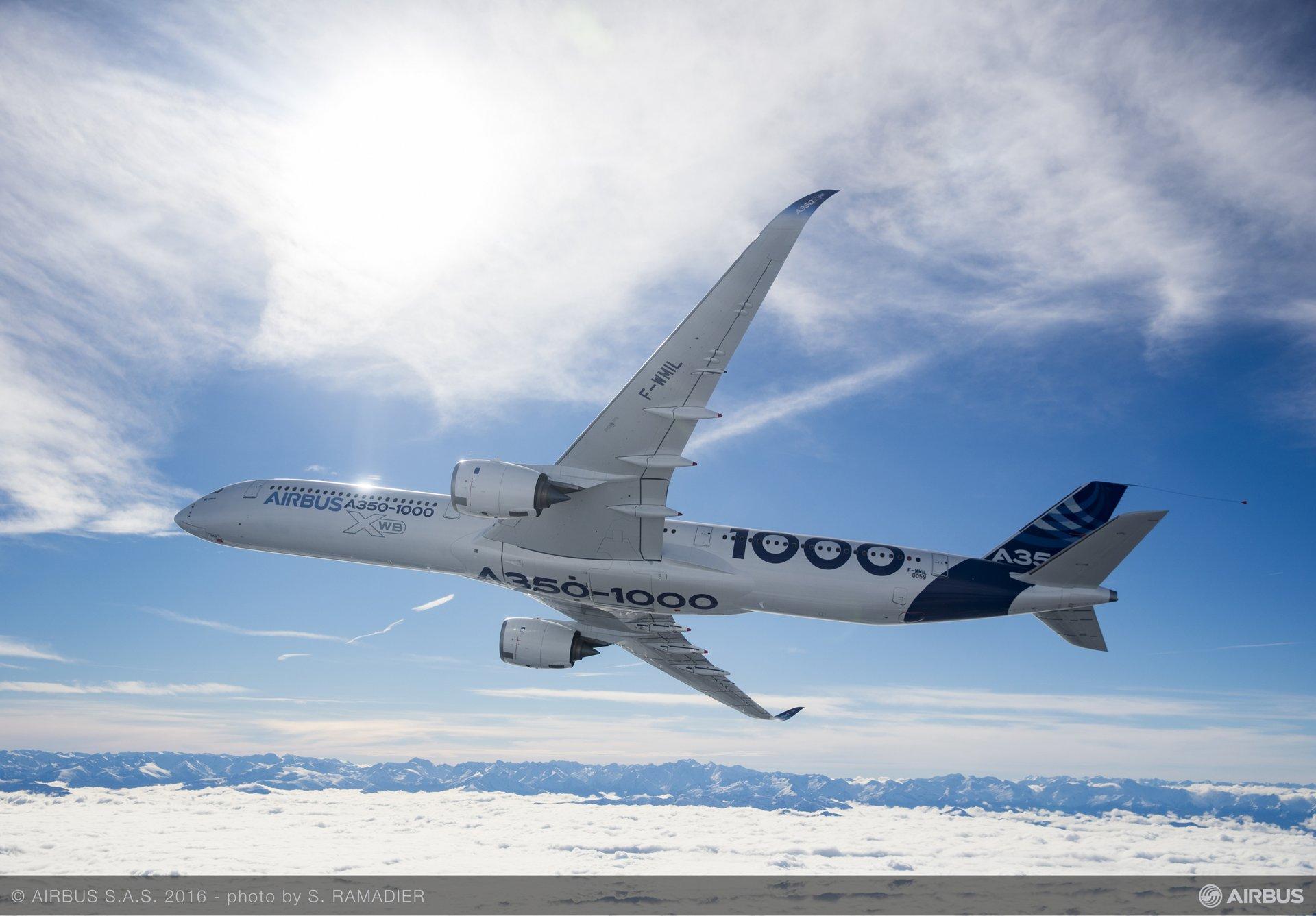 A350-1000 First Flight – air to air