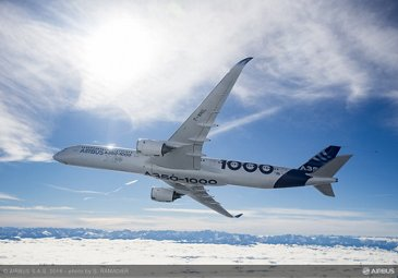 A350-1000 First Flight – air to air