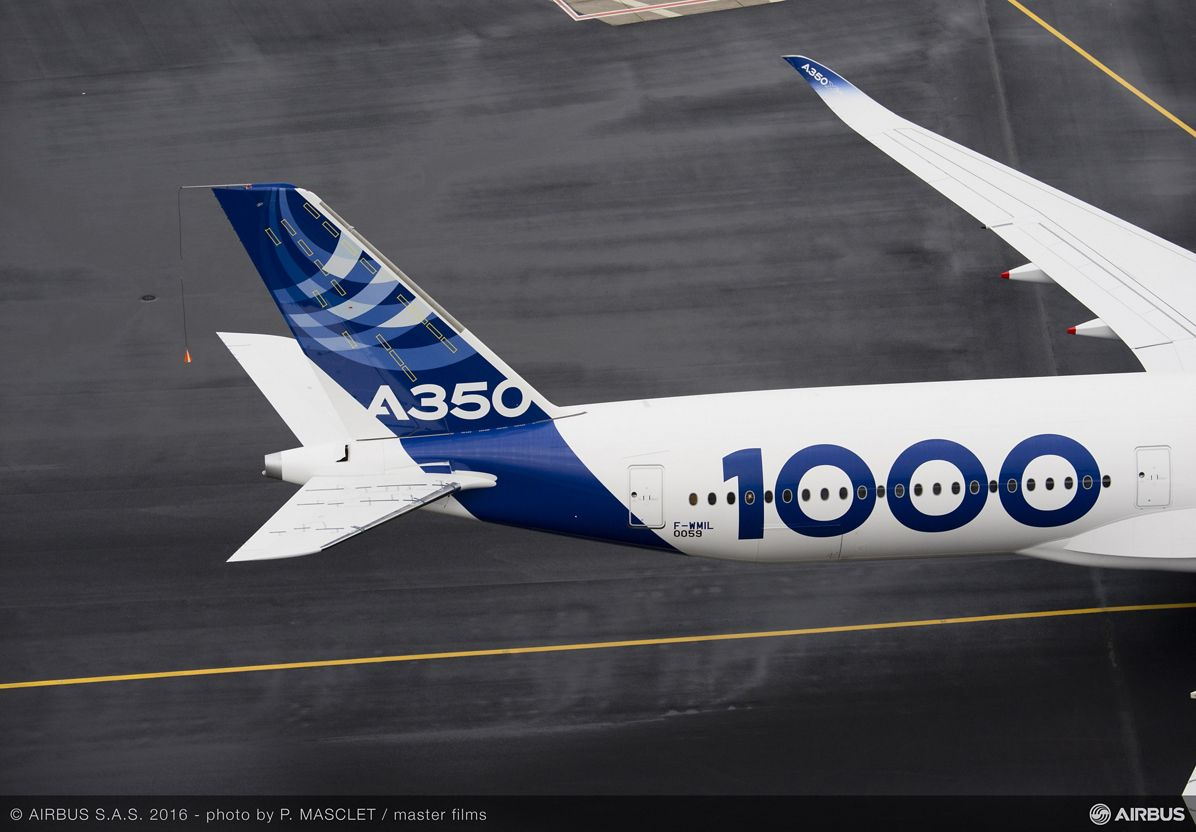 A350-1000 First Flight push back and take off 059