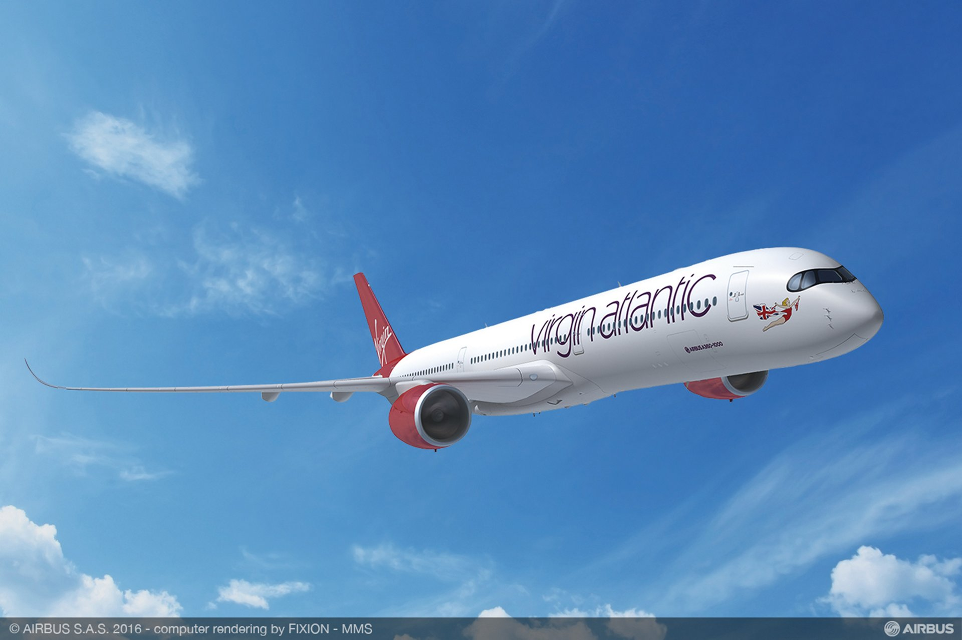 UK-based Virgin Atlantic Airways has selected Airbus' A350-1000 to become the latest jetliner in its fleet, purchasing eight for deliveries commencing in 2019, and four new aircraft on long-term leases from Air Lease Corporation from 2020