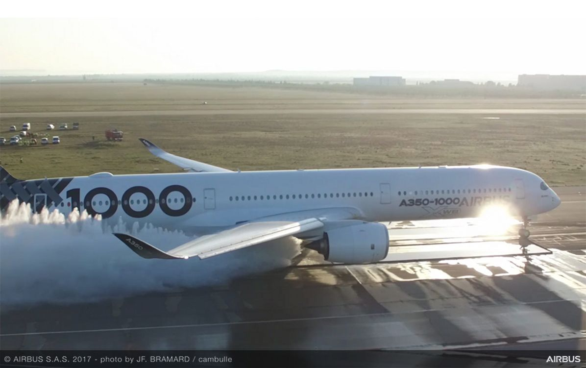 A350-1000_water trough test 4