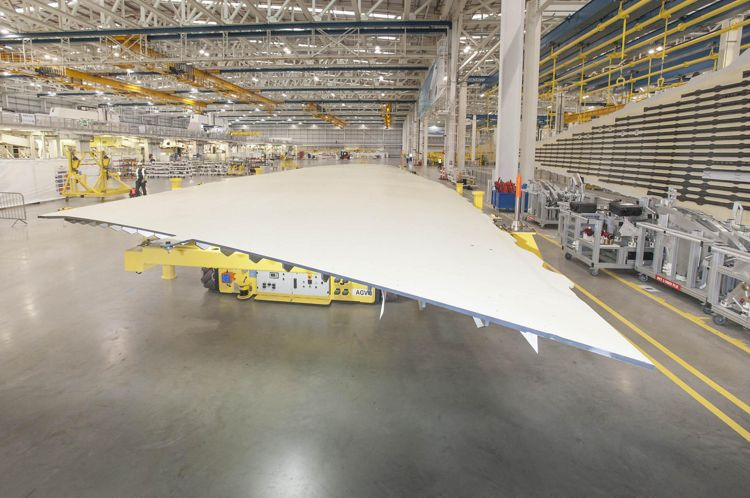 A350-1000_First wing goes into production 2