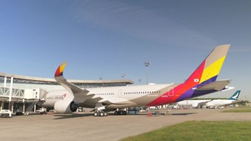 ASIANA AIRLINES TAKES DELIVERY OF ITS FIRST A350 XWB - FOOTAGE