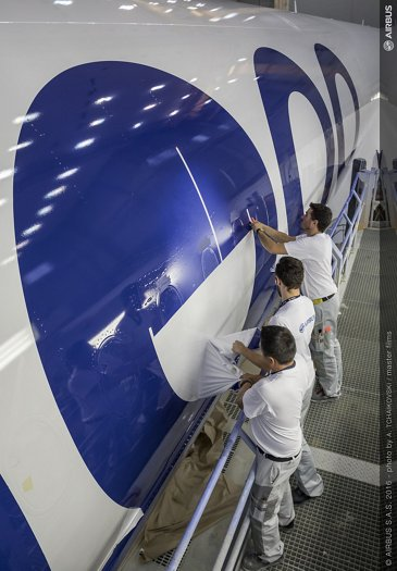First A350-1000 livery painting