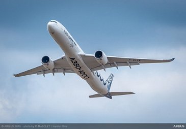 A350-1000 in the skies