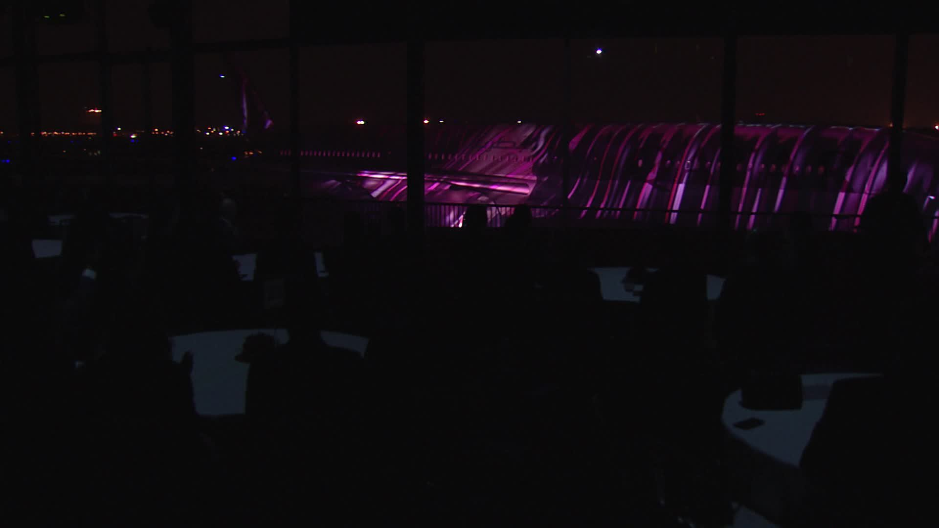 A350 1000 Qatar Delivery - Projection Mapping