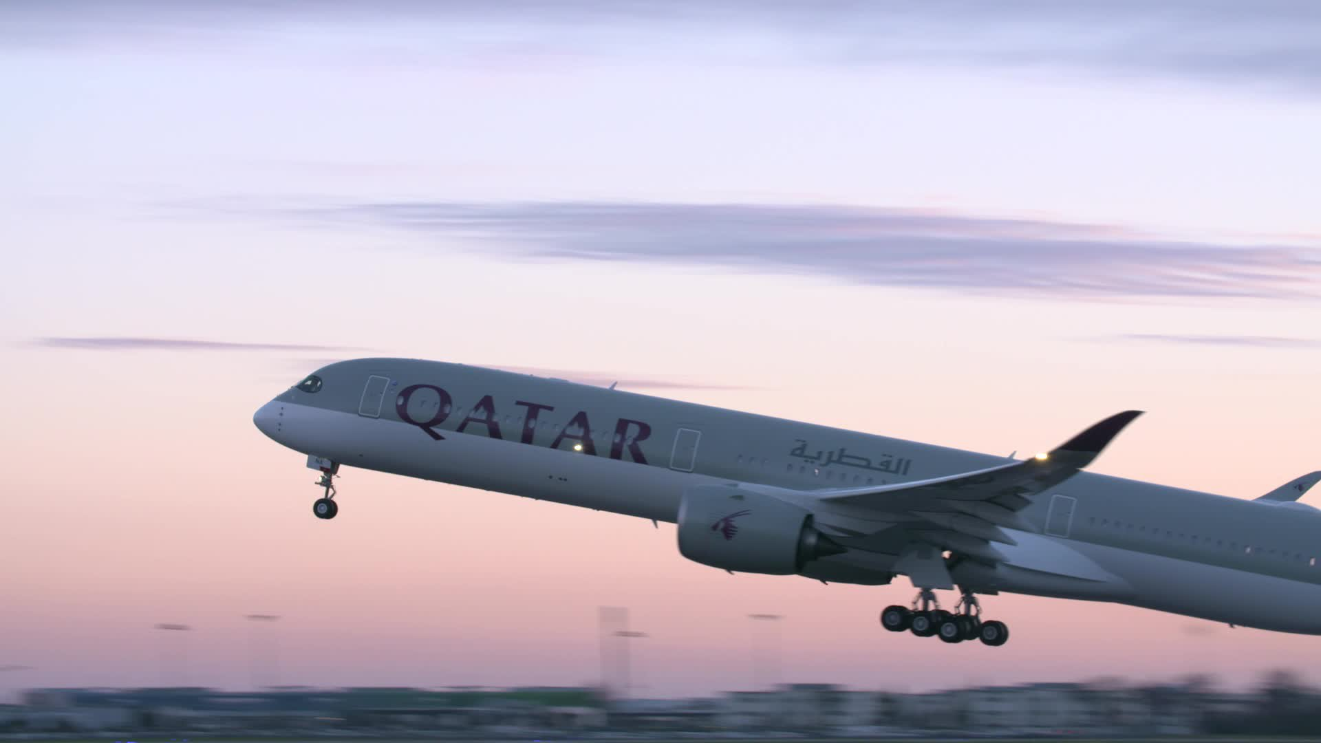 A350-1000 Qatar Take Off