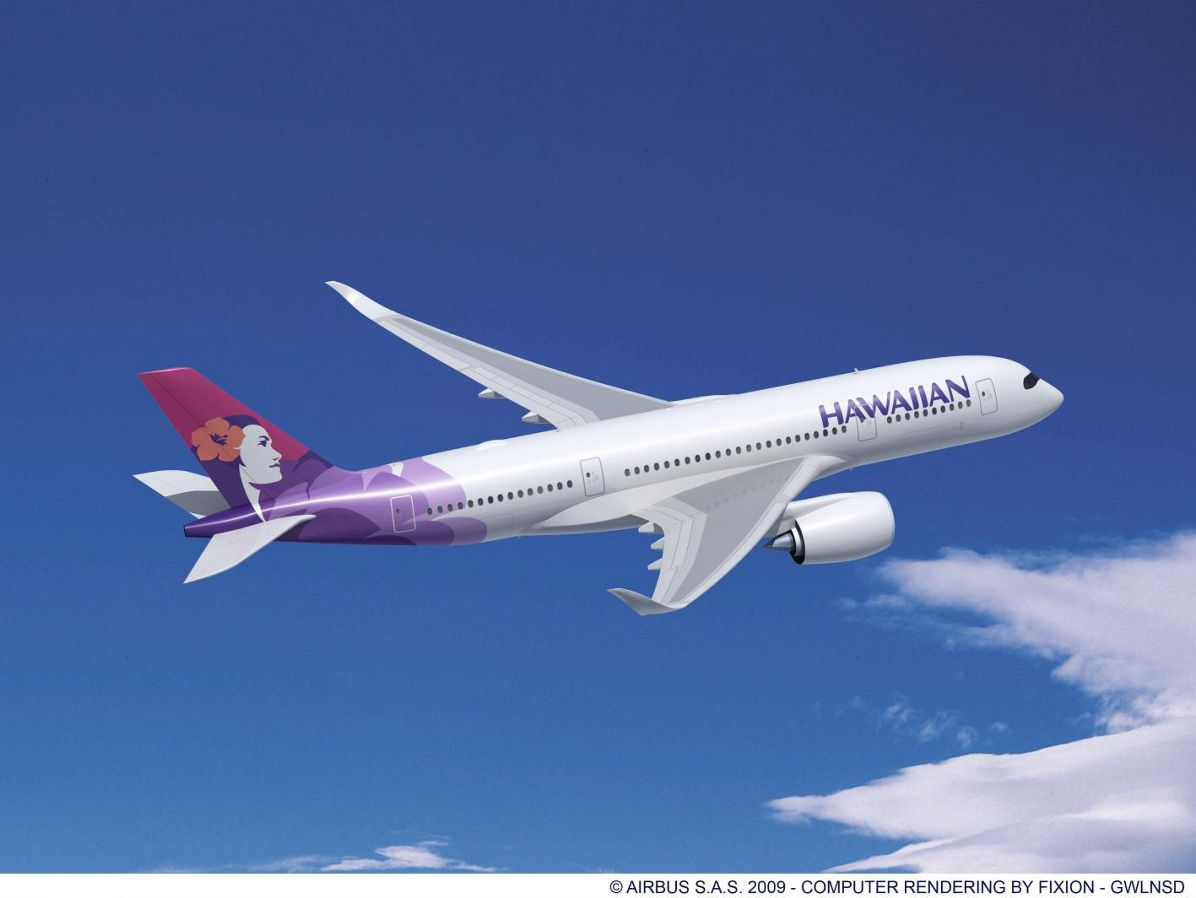 Hawaiian Airlines signs firm order for 12 Airbus widebodies: contract includes six A350 XWBs
