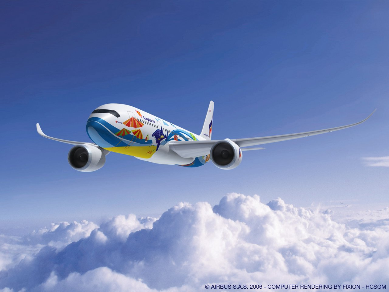 Bangkok Airways plans to use the A350-800 version of Airbus' A350 XWB on long-range routes