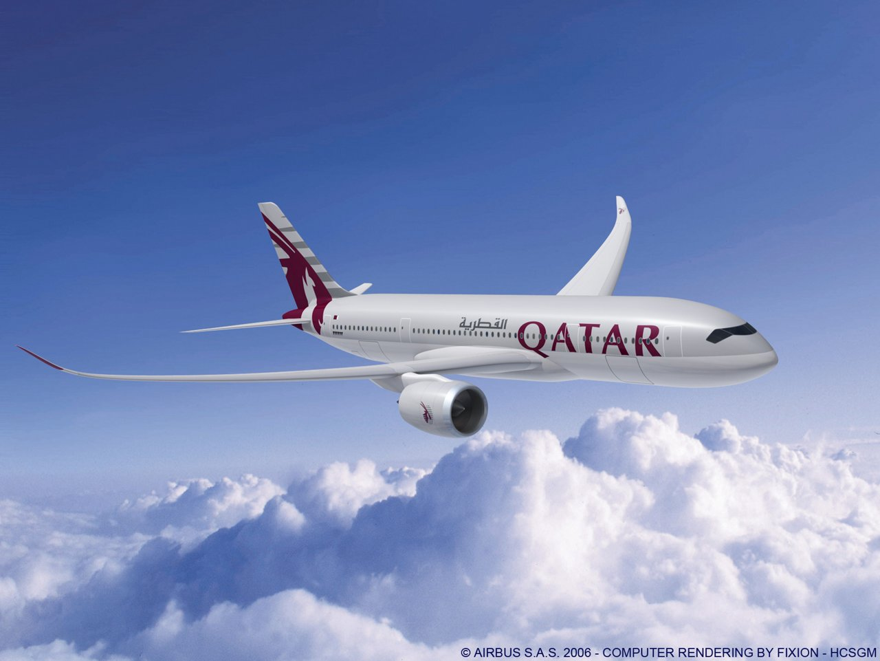 Qatar Airways is to operate both the A350-800 (depicted) and A350-900 versions of the A350 XWB