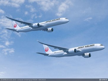 Japan Airlines' A350-900 and A350-1000