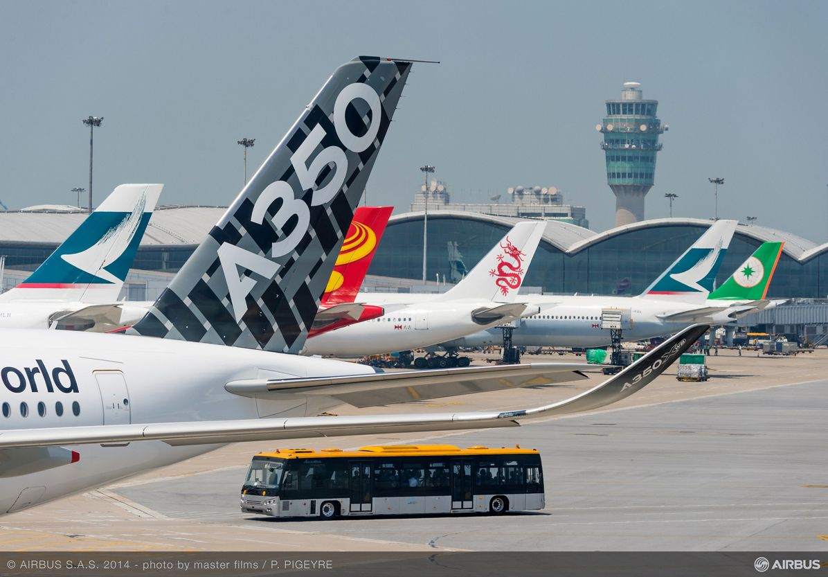A350 XWB AT HONG KONG AIRPORT - ROUTE PROVING TRIP 2, A350 XWB route proving Hong-Kong