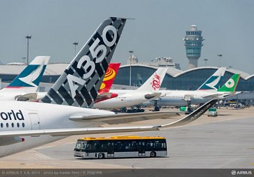 A350 XWB AT HONG KONG AIRPORT - ROUTE PROVING TRIP 2