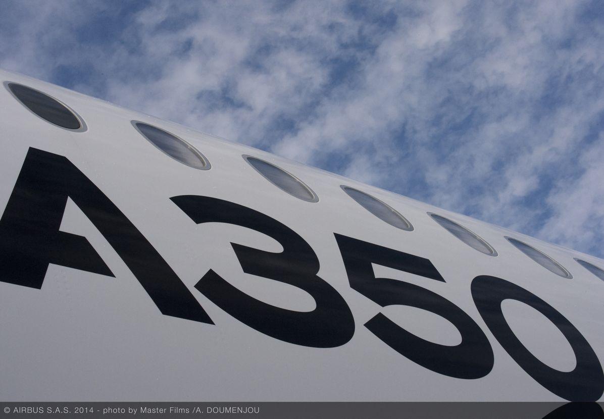 A350 XWB ROUTE PROVING TRIP 3 - SANTIAGO - FUSELAGE CLOSE UP, A350 XWB route proving close up