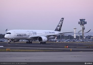 A350 XWB AT SYDNEY AIRPORT - ROUTE PROVING TRIP 3