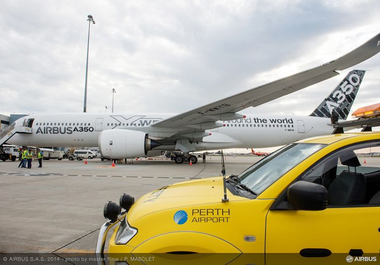 A350 XWB AT  PERTH AIRPORT - ROUTE PROVING TRIP 4, A350 XWB route proving Perth airport