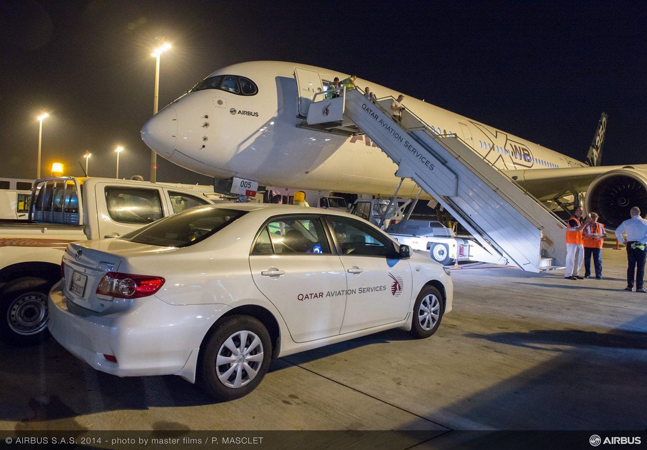 A350 XWB ROUTE PROVING TRIP 4 - DOHA AIRPORT