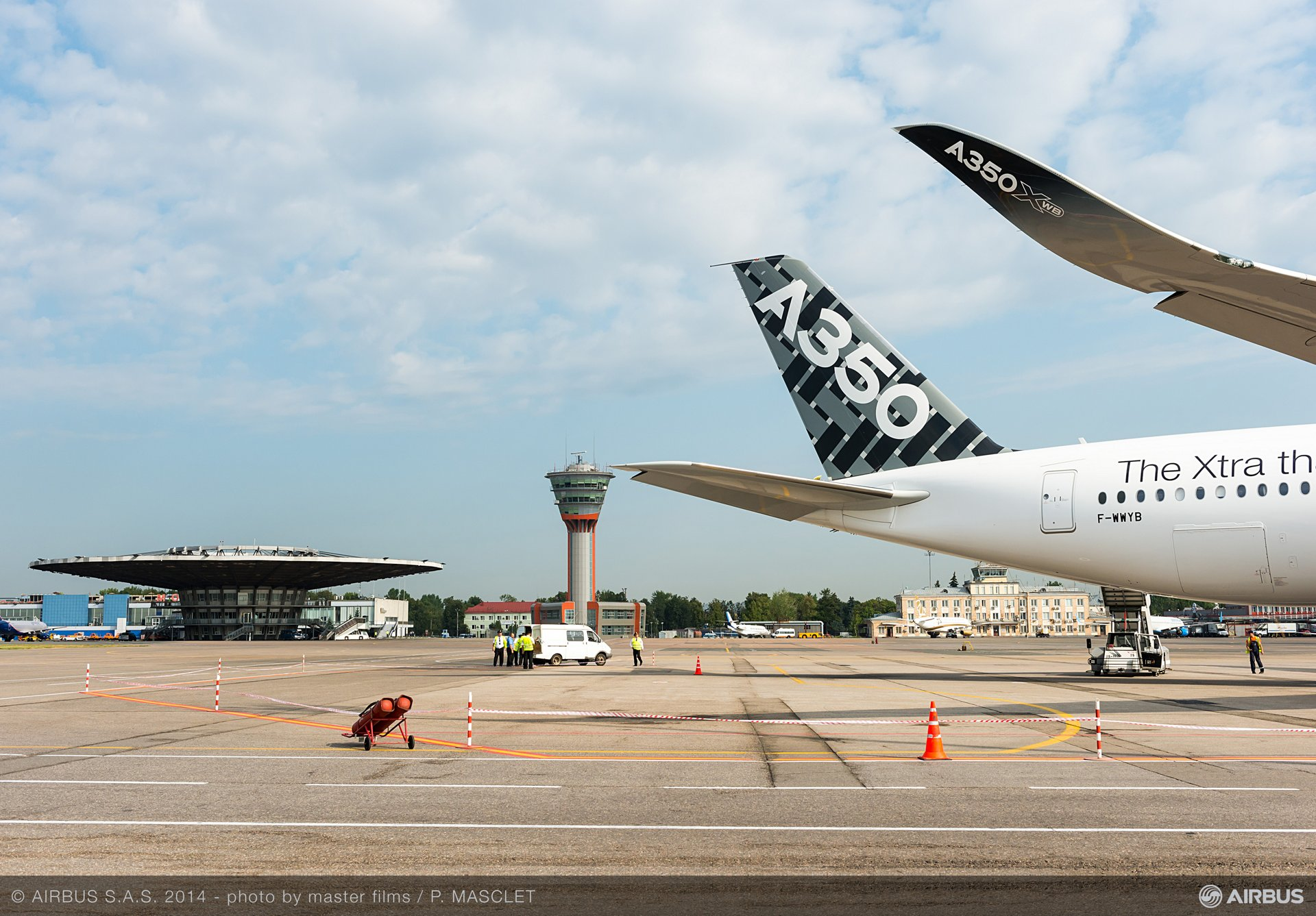 A350 XWB - ROUTE PROVING TRIP 4 - MOSCOW - CLOSE UP