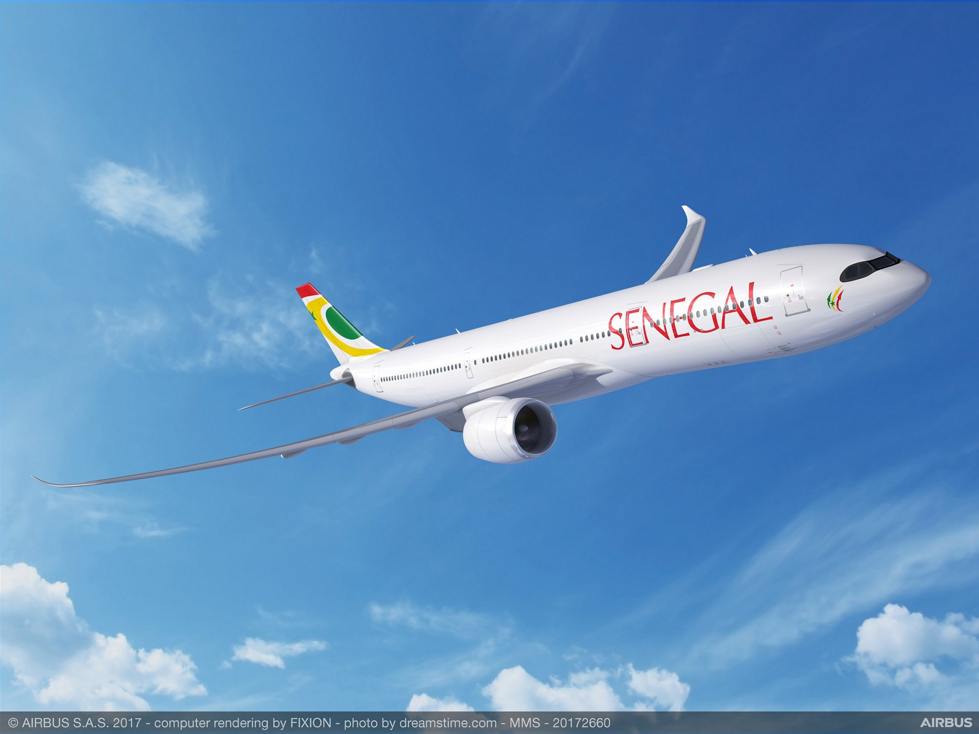 Following a Memorandum of Understanding signed at the 2017 Dubai Airshow, Air Sénégal today signed a firm order for two A330neo widebody jetliners, becoming the first African airline to select the A330neo