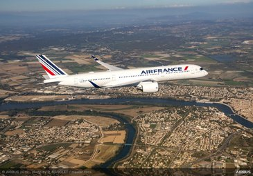 Delivery of Air France's first A350 XWB
