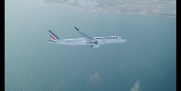 First Air France A350 XWB – In flight