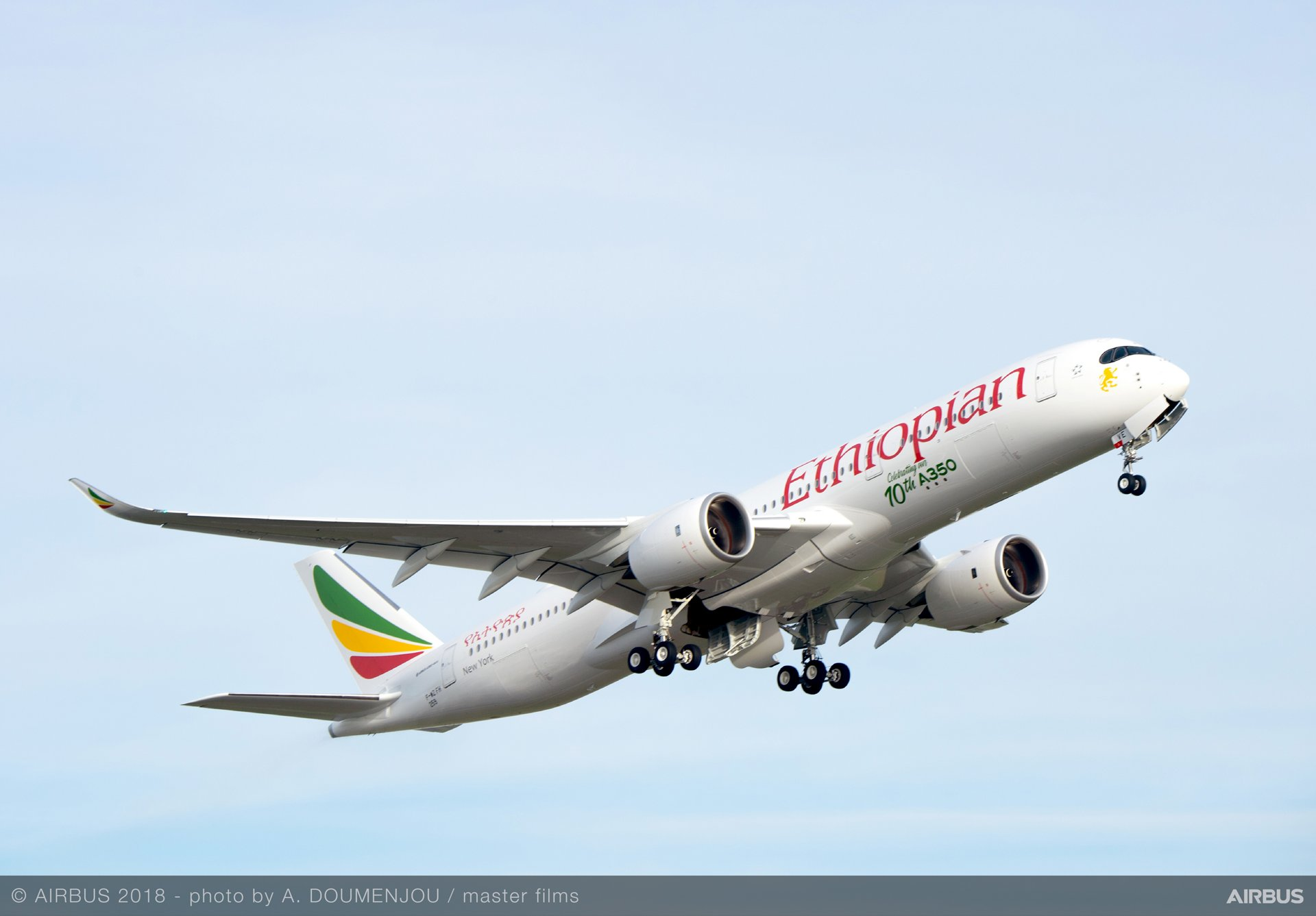 A350 900 Ethiopian Airlines MSN259 10th Delivery Takeoff