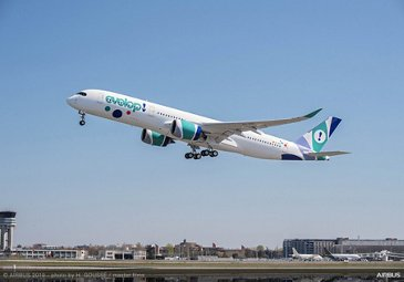 Evelop Airlines receives its first A350 XWB