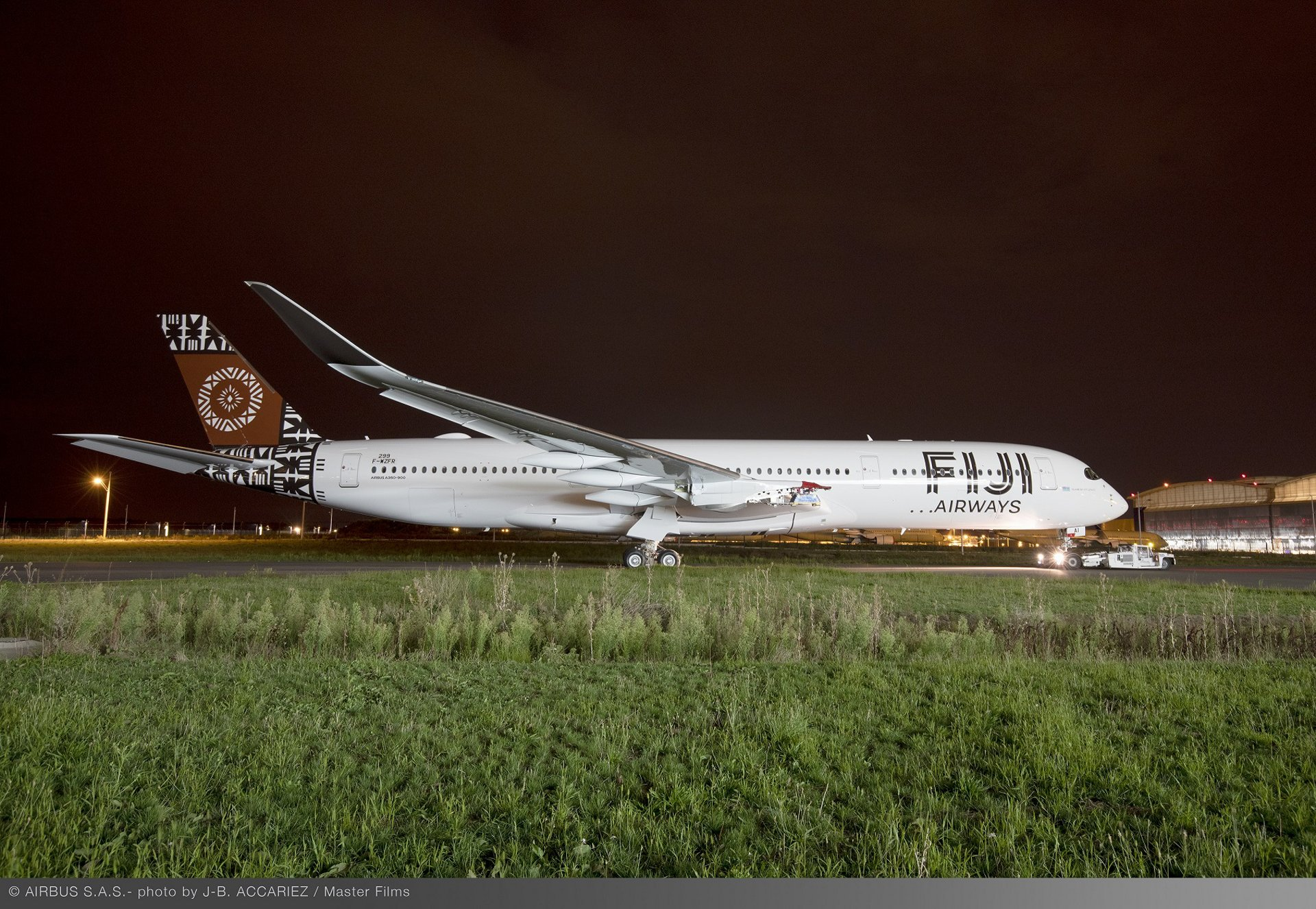 The first A350-900 for delivery to Fiji Airways – which received its signature livery at the Airbus paint shop in Toulouse, France –  will be deployed to enhance existing long-haul services from Fiji to Australia and the U.S.