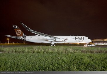 Fiji Airways A350-900 paint shop rollout
