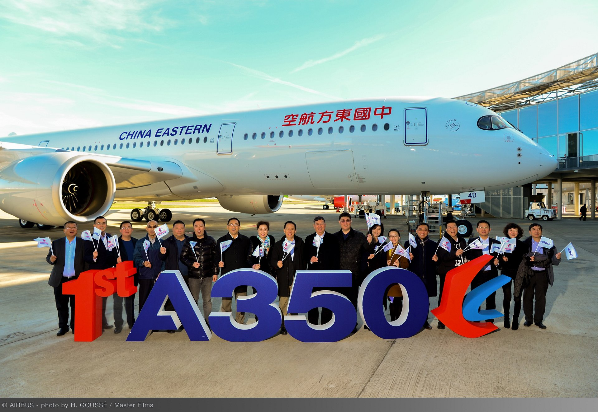 Shanghai-based China Eastern Airlines took delivery of its first A350-900 – which features a modern and comfortable four-class cabin layout of 288 seats – during a ceremony in Toulouse, France